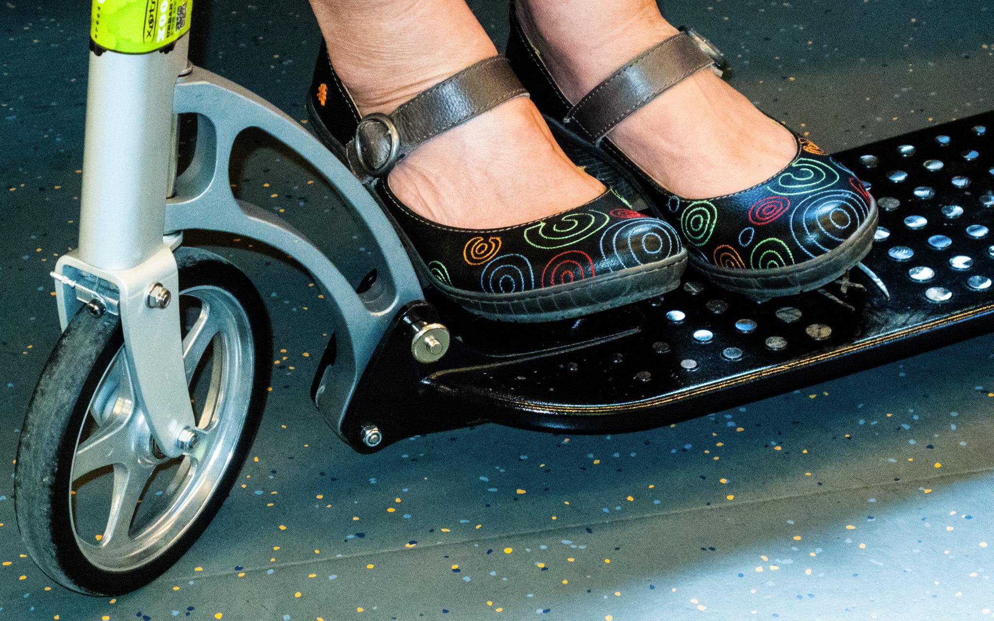 Sparkesykkel med plass til beina