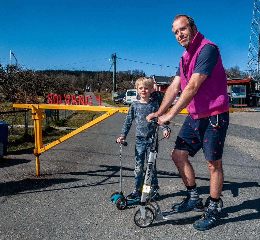 Sparkesykkel for voksne med barn